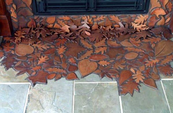 Fallen Leaf Patterned Tiles