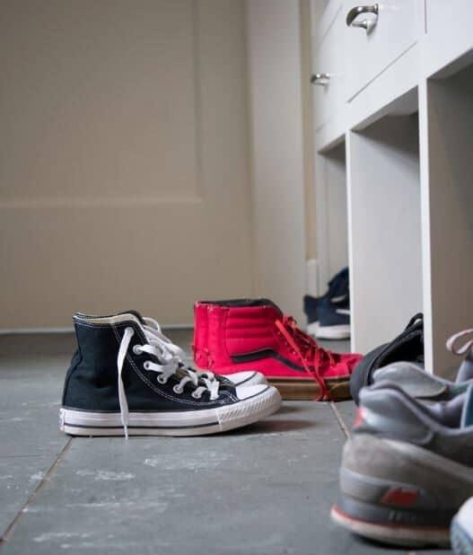 shoe storage for mud room