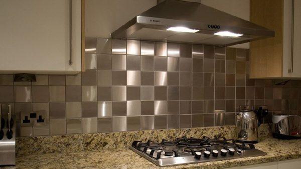 Steel Tiled Kitchen Design